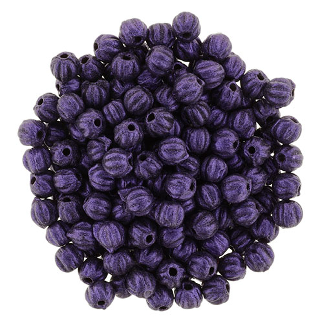3mm Melon - Metallic Suede Purple (100 Beads) 03-79021