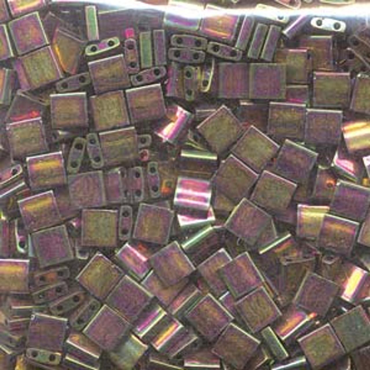 Bronze Metallic Iris Luster 5mm Tila Beads (TL1893)
