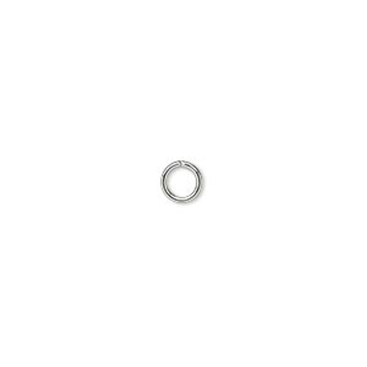 5mm 18ga Silver Plated Jump Ring 100pk