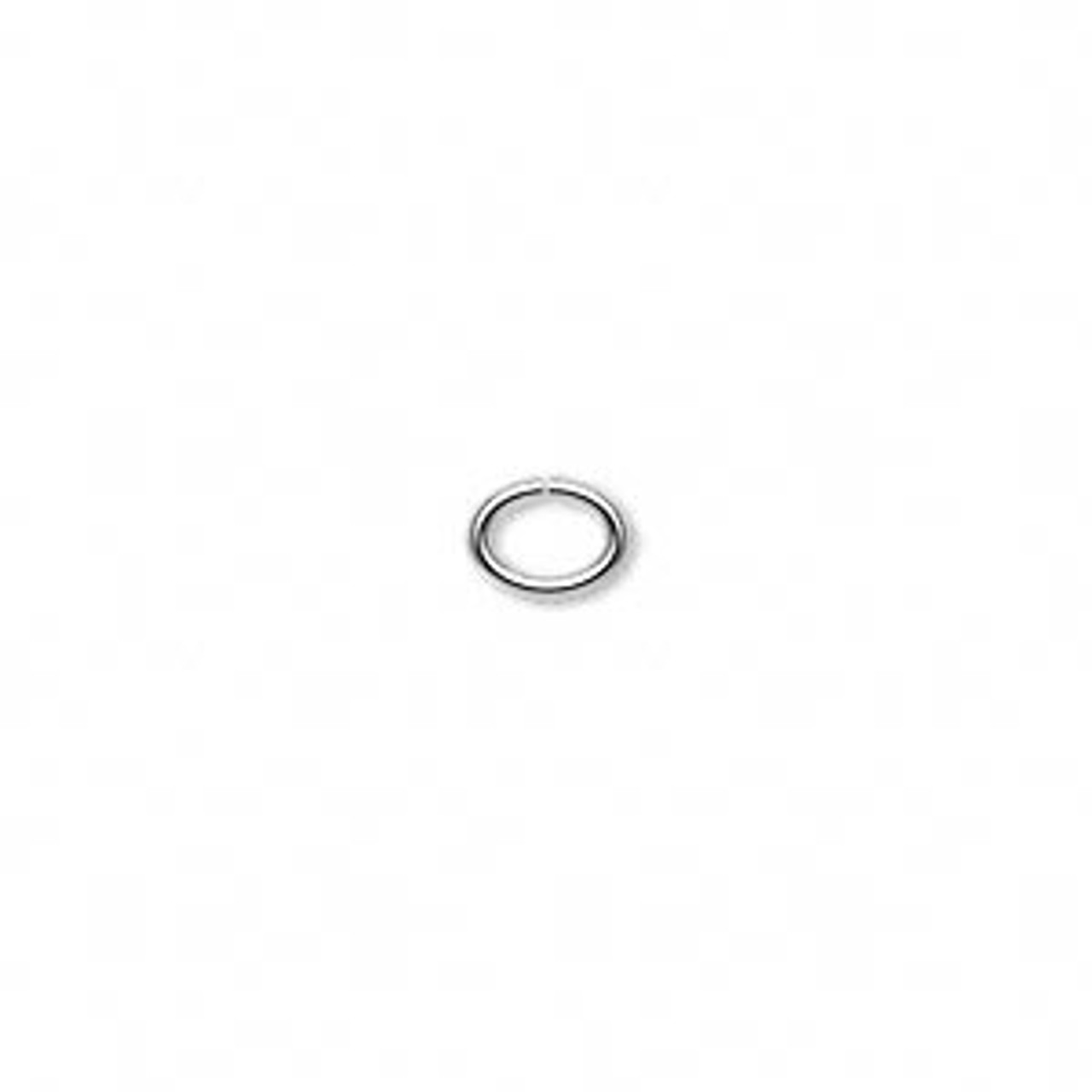 6.5x5mm Silver Plated Oval Jump Rings 100pk