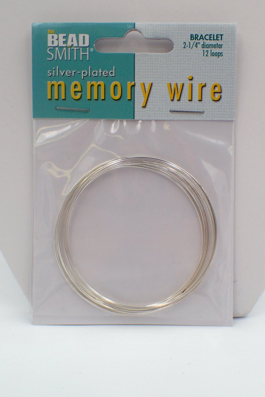 2 1/4 diameter 12 loop Memory Wire Silver Plated