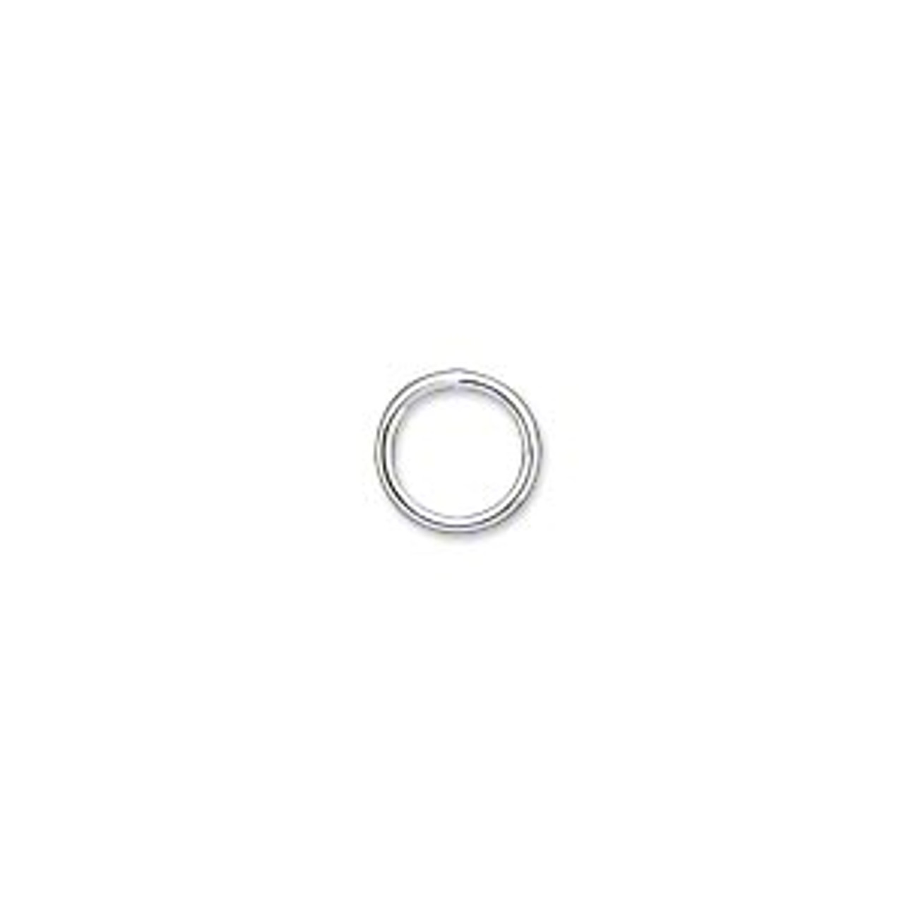 18ga 8mm Soldering Jump Ring - SIlver Plated