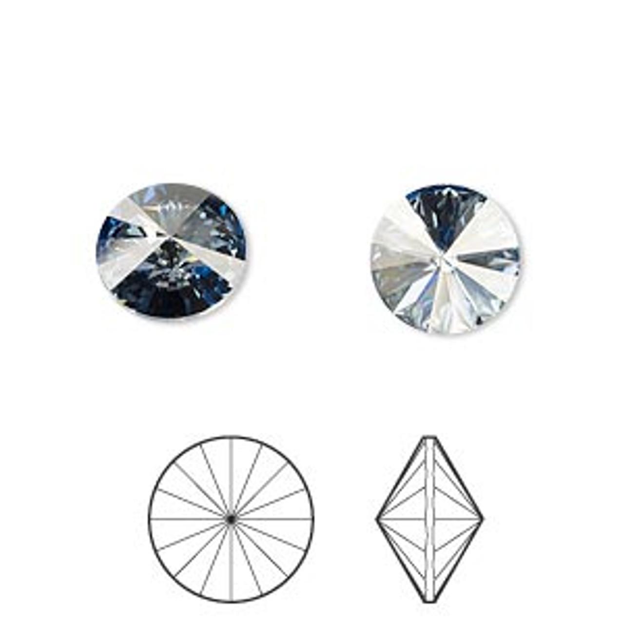 10mm (SS47) Crystal Blue Shade Swarovski Rivoli - 2pk