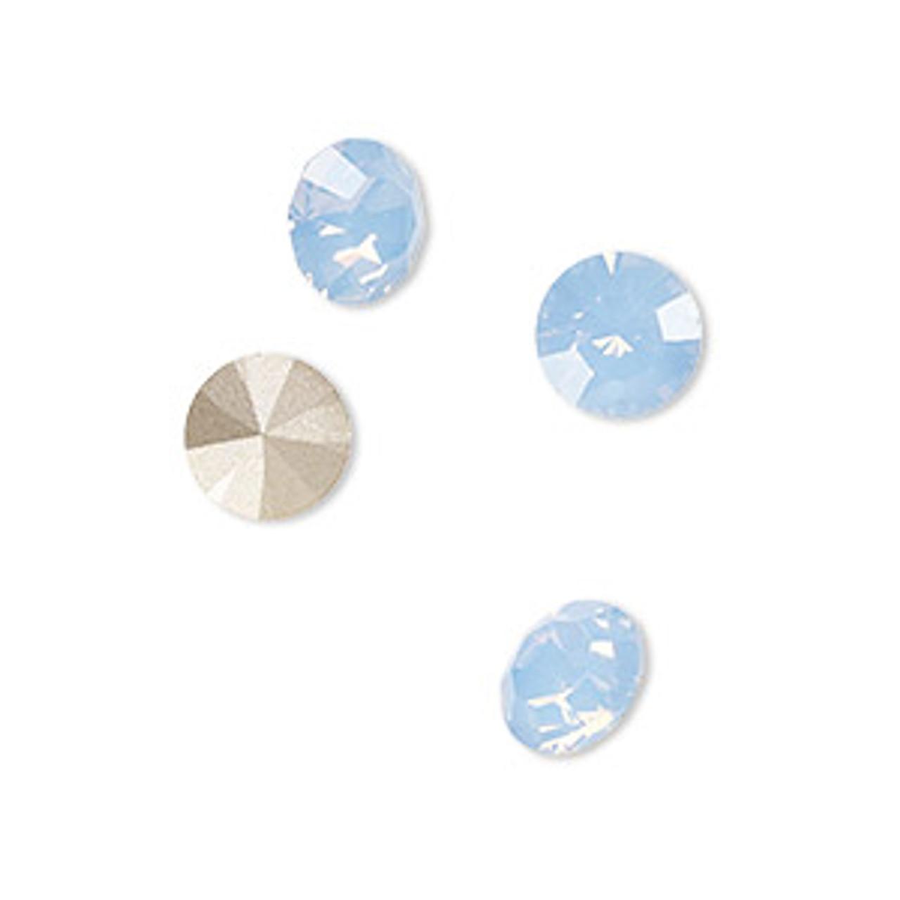 6pk 8mm (ss39) Light Sapphire Opal Chaton
