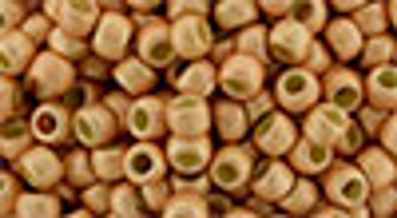 8/0 Toho Permanent Finish Matte Galvanized Rose Gold Toho Seed Beads (20 Grams) 8-PF551F