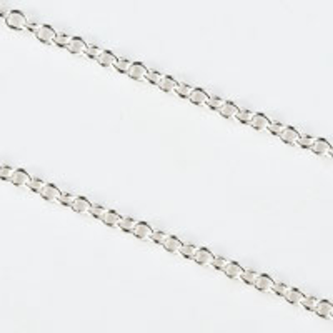 2.2mm Silver Plated Chain - 2 Foot Package
