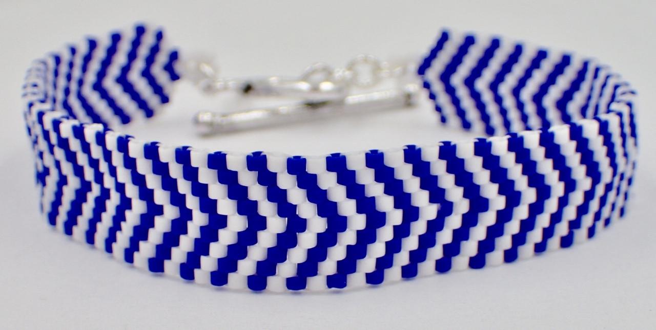 Odd Count Peyote Chevron Bracelet Instant Download Pattern