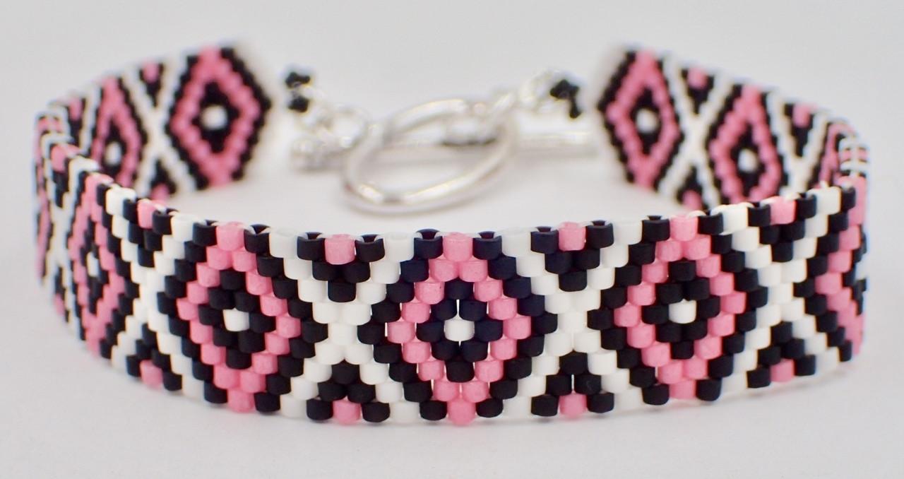 Odd Count Peyote Diamond Bracelet Instant Download Pattern