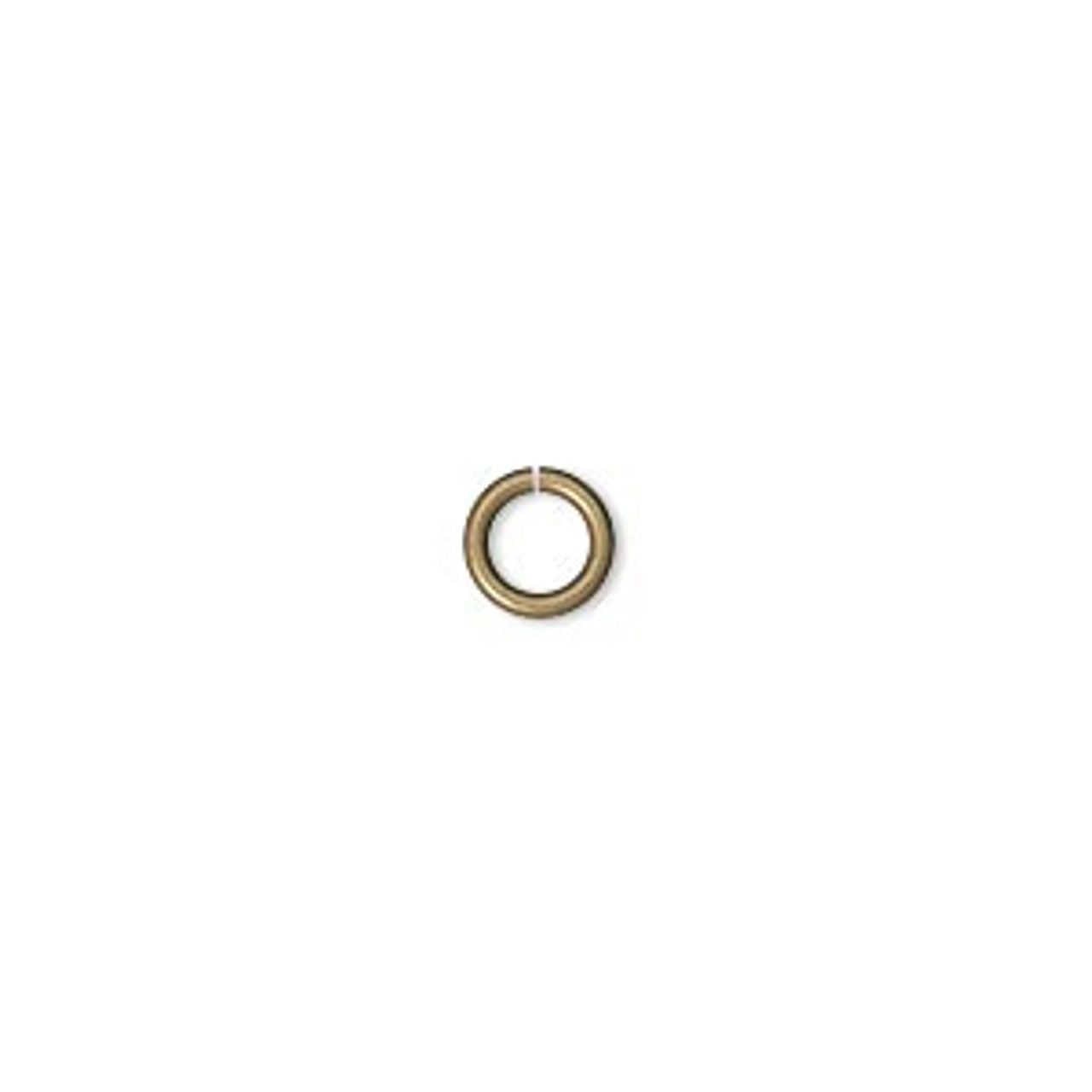 6mm Antique Gold Jump Rings 100pk