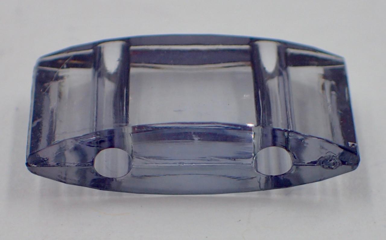 25pk Transparent Light Blue Carrier Beads (17x9x5mm) Two Hole