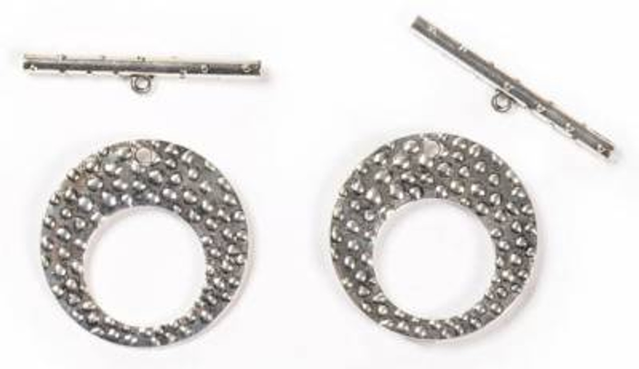 46x20mm Textured Circle Toggle - 1 Set
