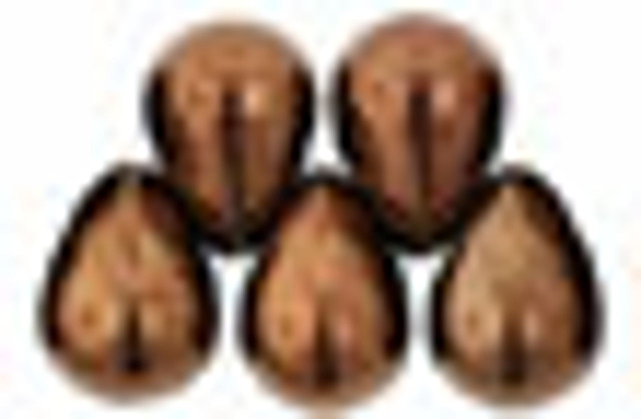 8x6mm Dark Bronze Tear Drops (48-50 Beads)