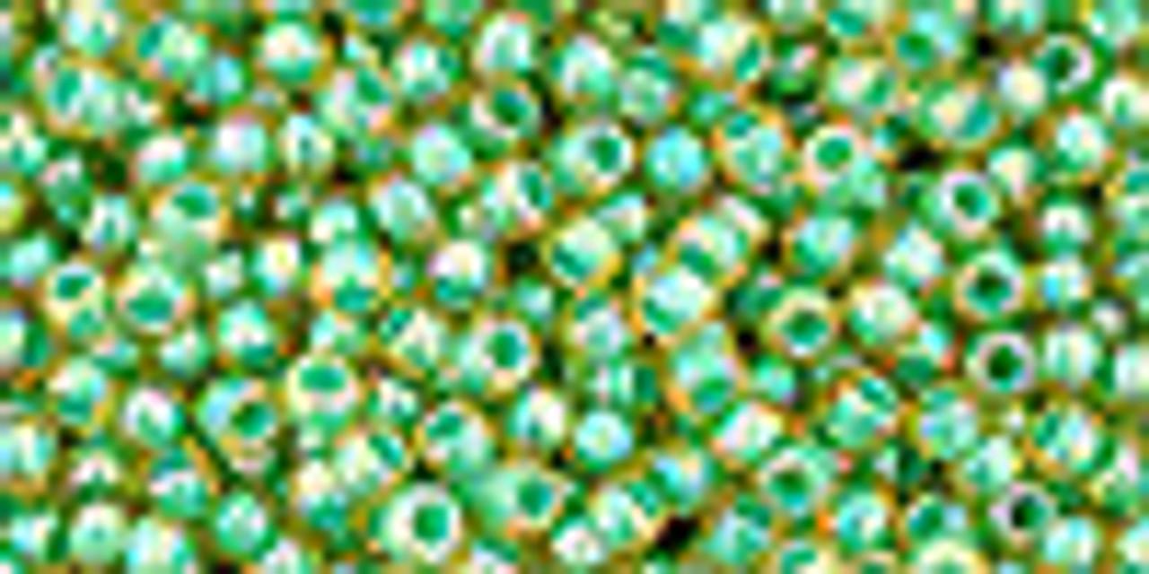 11/0 Inside-Color Rainbow Lt Jonquil/Mint-Lined Toho (20 Grams)