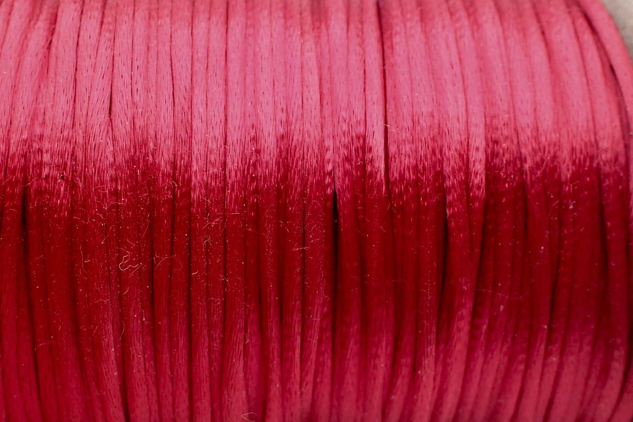 1.5mm Wine Rayon Rattail Cord - Per Yard