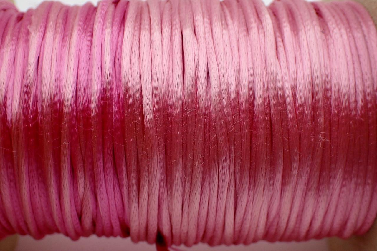 1.5mm Shocking Pink Rayon Rattail Cord - Per Yard