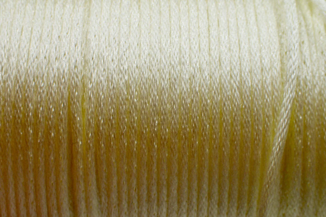 1.5mm Cream Rayon Rattail Cord - Per Yard