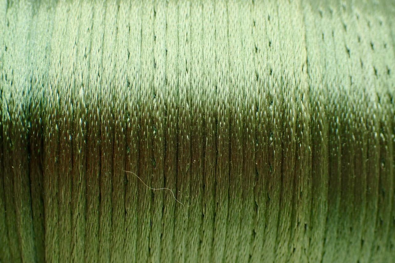 1.5mm Parrot Green Rayon Rattail Cord - Per Yard