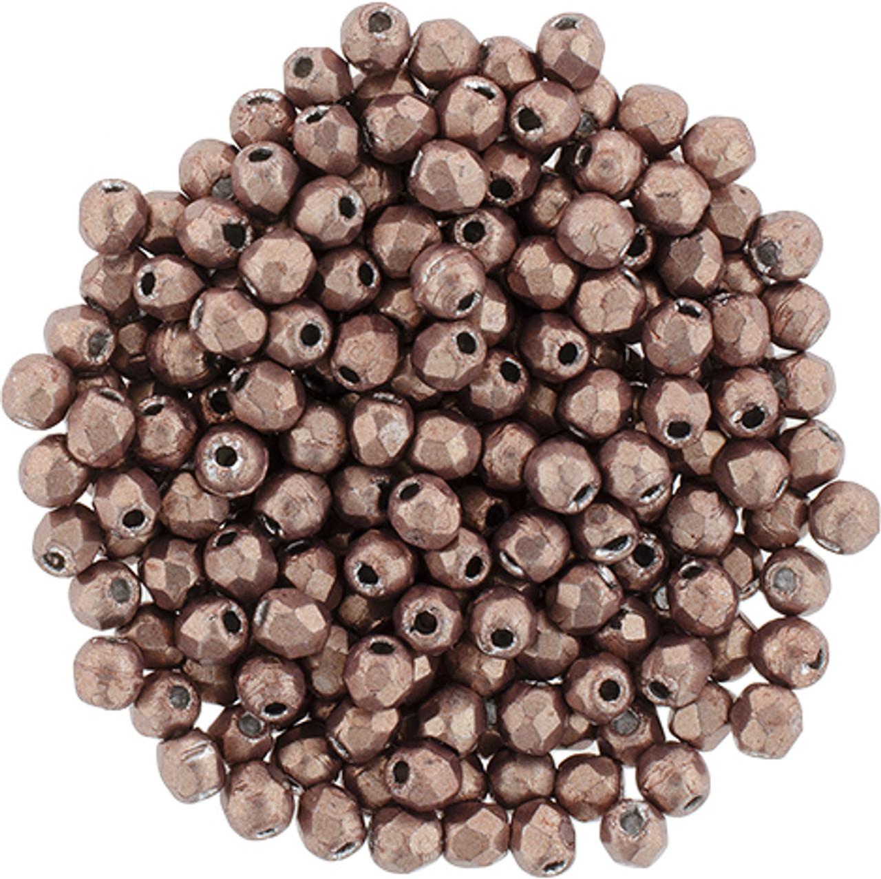 2mm Autumn Maple Fire Polish Beads - 50pk