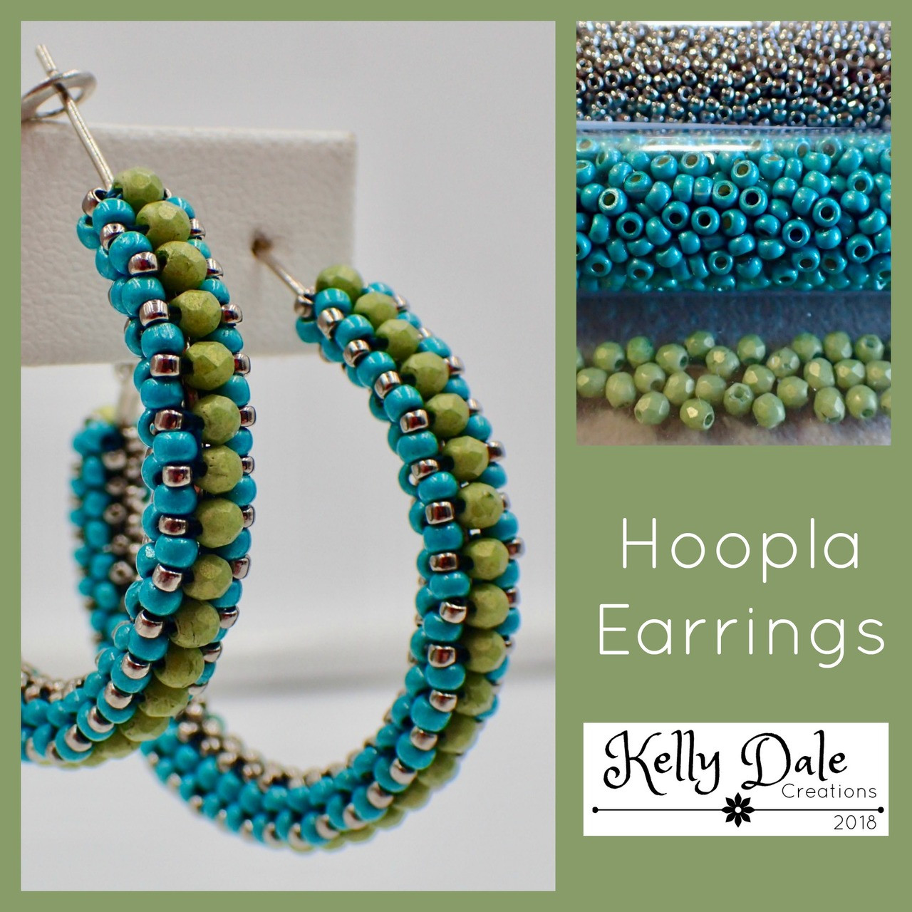 Hoopla Earring Kit - Turquoise & Green