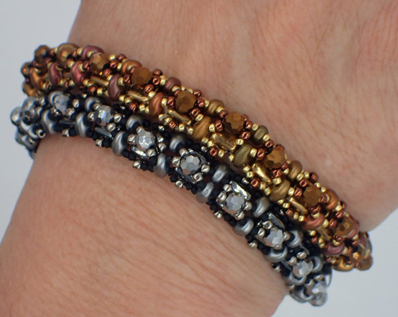 Cobblestone Bangle Bracelet PRINTED Tutorial - Mailed to your home