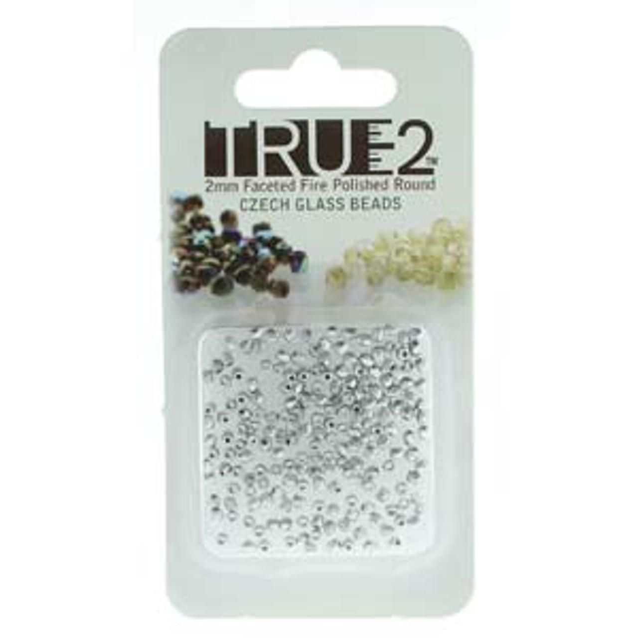 Bronze Aluminum True 2mm Fire Polish Beads - Approx 2 Grams