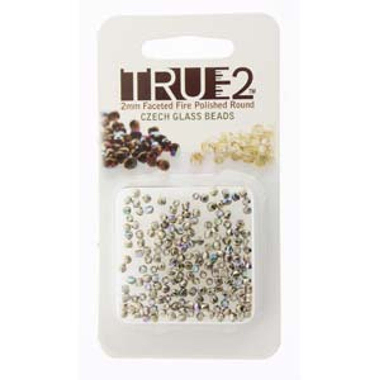 Nickel Plated AB True 2mm Fire Polish Beads - Approx 2 Grams