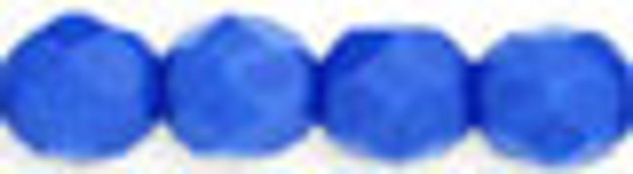 6mm Opaque Blue Fire Polish Beads (25pk)