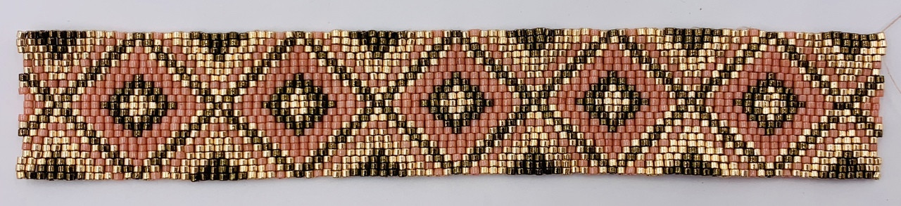 Glowing Diamond Odd Count Three Drop Peyote Stitch Instant Download PDF Pattern