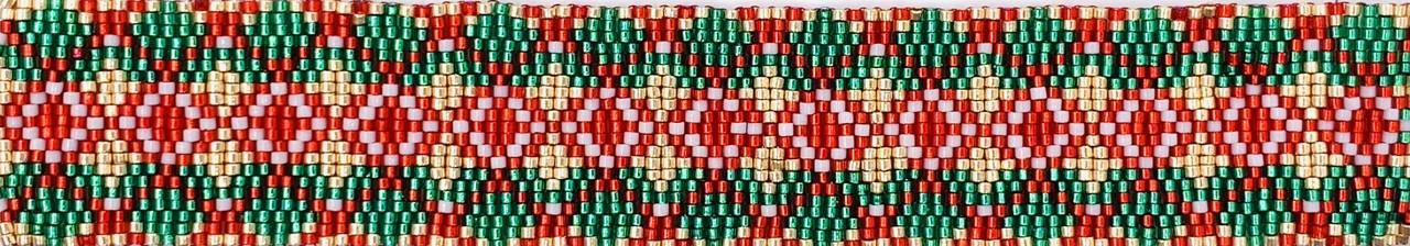 Christmas Argyle Odd Count Three Drop Peyote Stitch Instant Download PDF Pattern