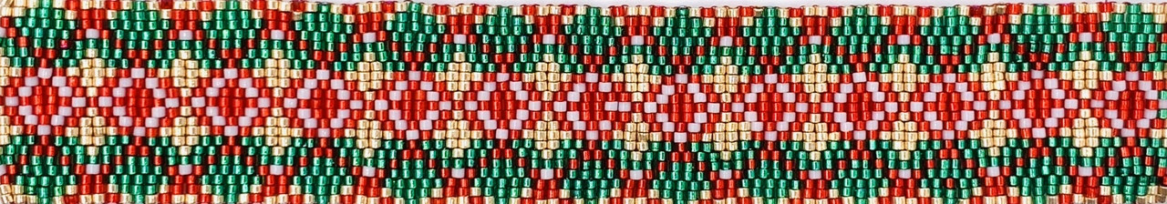 Christmas Argyle Odd Count Three Drop Peyote Stitch Kit