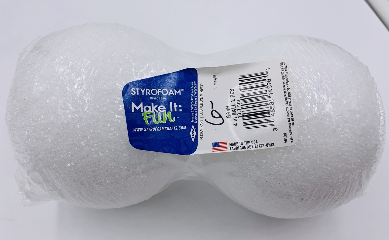 Make it Fun 4 Inch Styrofoam Balls - 2pk