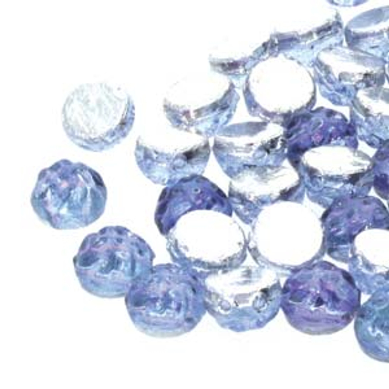 7mm Backlit Violet Ice Two Hole Cabochon (20pk)