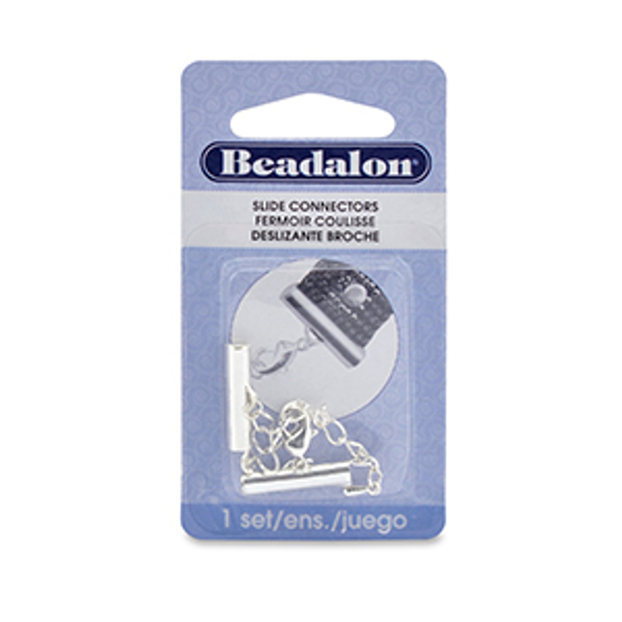 Beadalon Silver Plated 20mm Slide Connector 324B-062