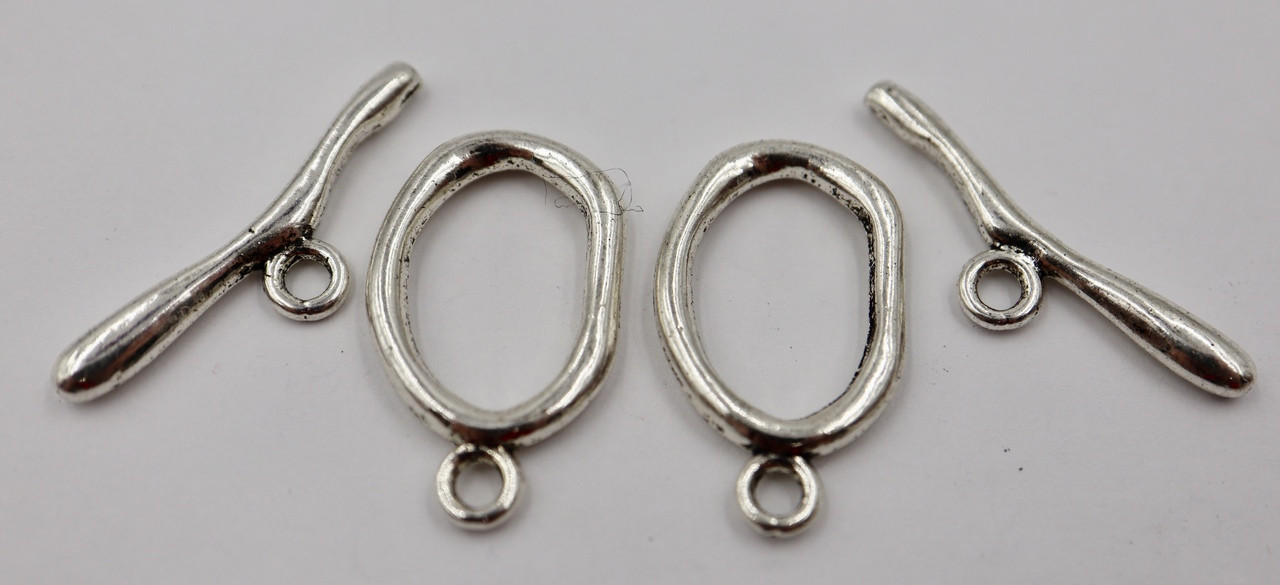 26x15mm Wavy Oval Toggle (2 Sets)