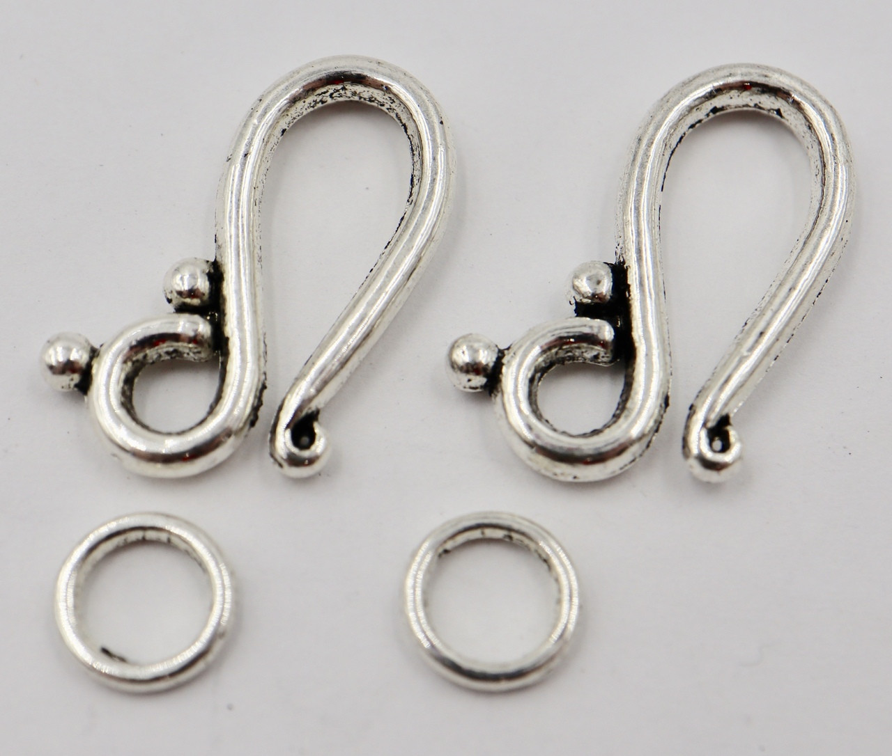 21mm Swirl Hook & Eye Clasp (2 Sets)