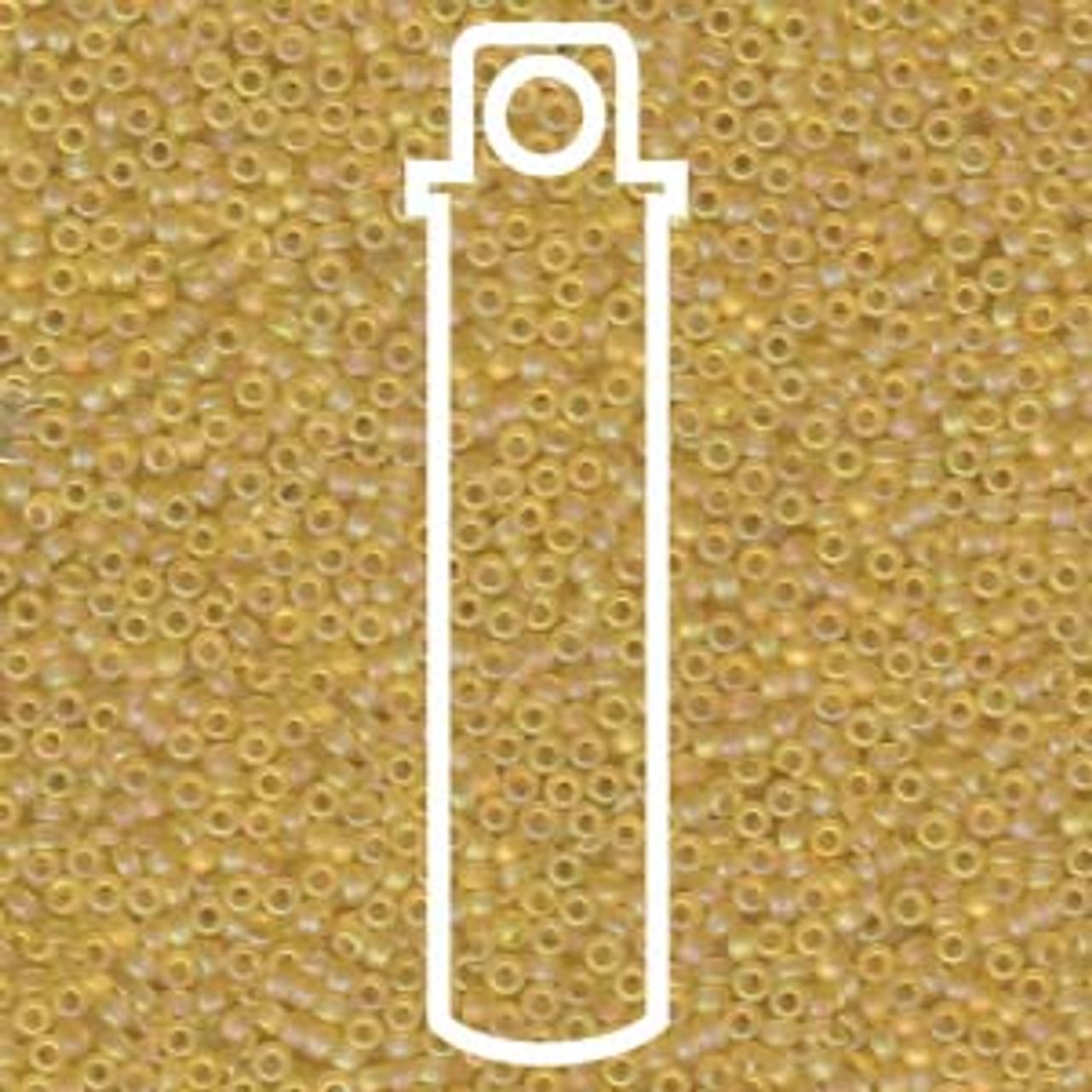 15/0 Matte Cantaloupe AB Miyuki Seed Beads (8 Grams) 15-9132fr