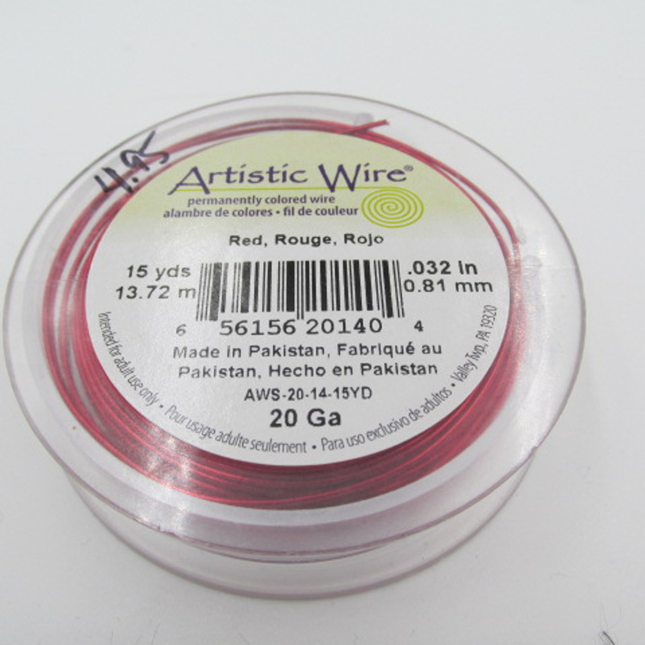 20 Ga. Red Artistic Wire
