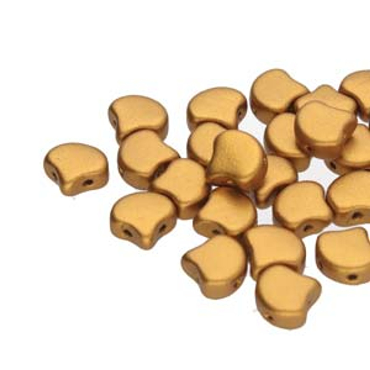 7.5x7.5mm Bronze Gold Two Hole Ginko Beads (8 Grams) Approx 30-35 Beads