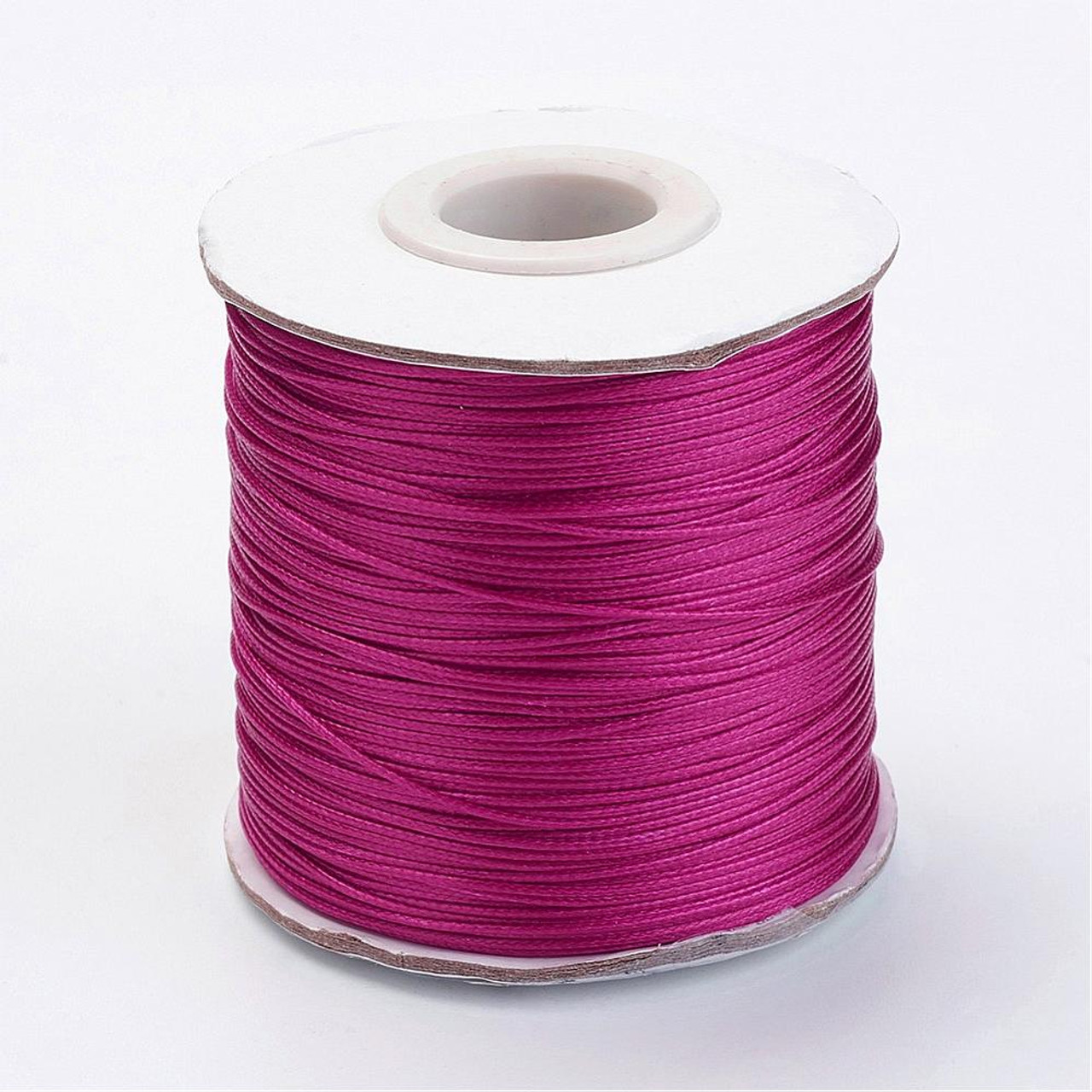 .5mm Medium Violet Red Waxed Polyester Cord - 10yds