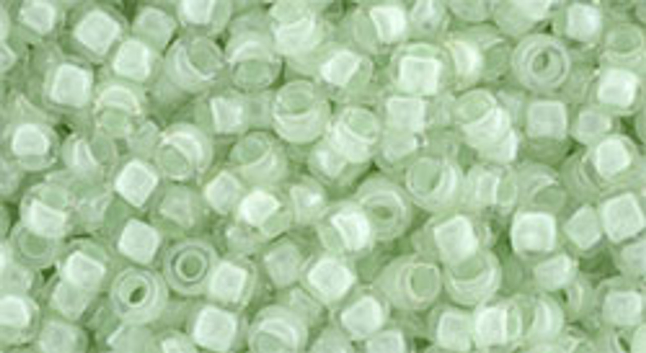 8/0 Crystal Mint Lined Lined Toho Seed Beads (20 Grams) 08-1065