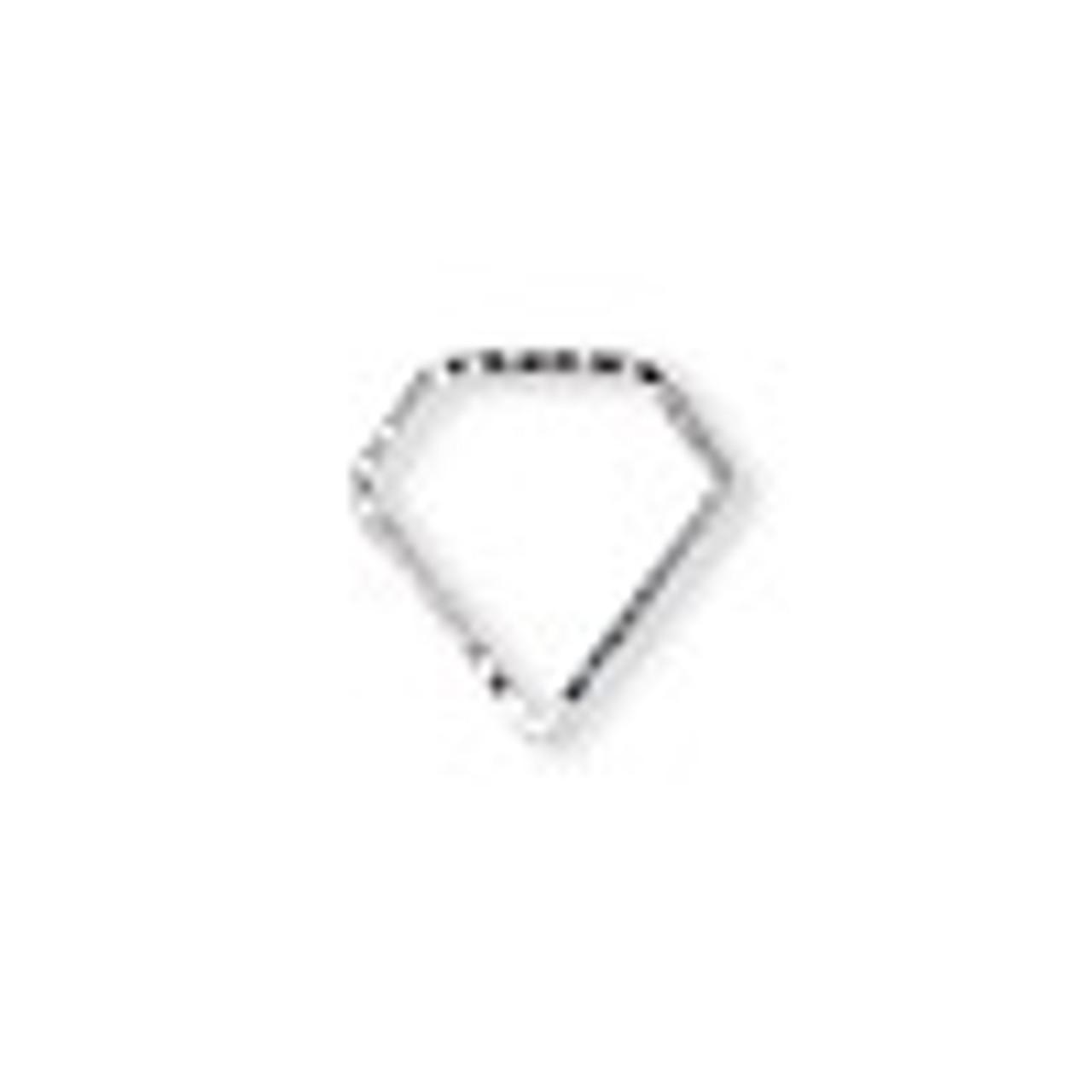 15.5x15.5mm SP Diamond Cut Open Gem (6pk)