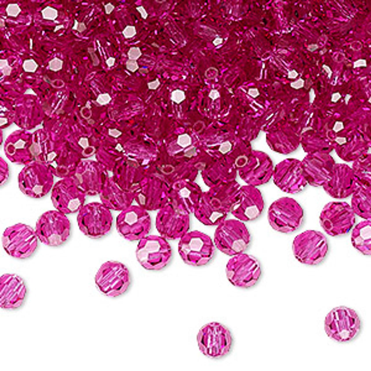 4mm Fuchsia Preciosa Round Crystals (12pk)
