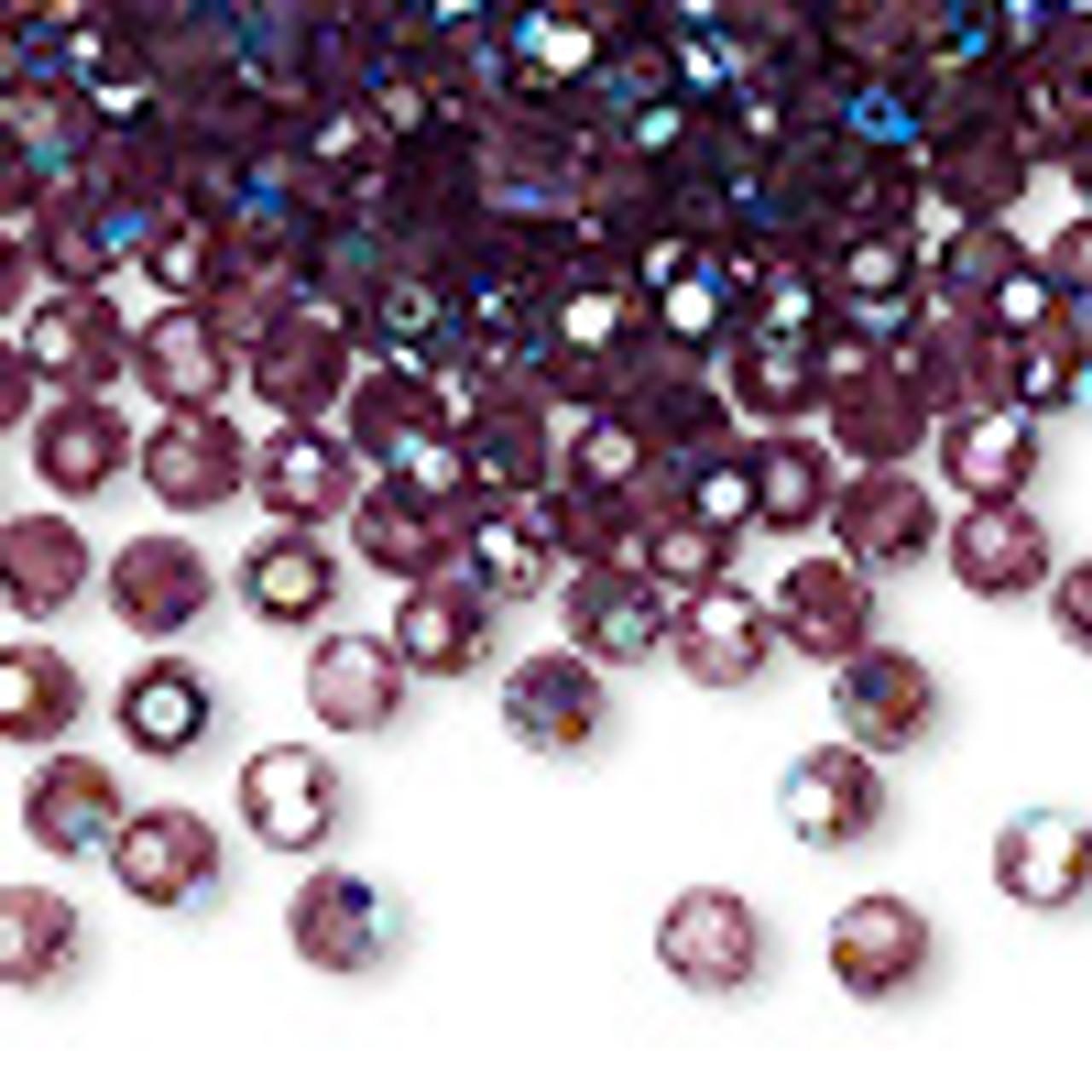4mm Amethyst AB Preciosa Round Crystals (12pk)