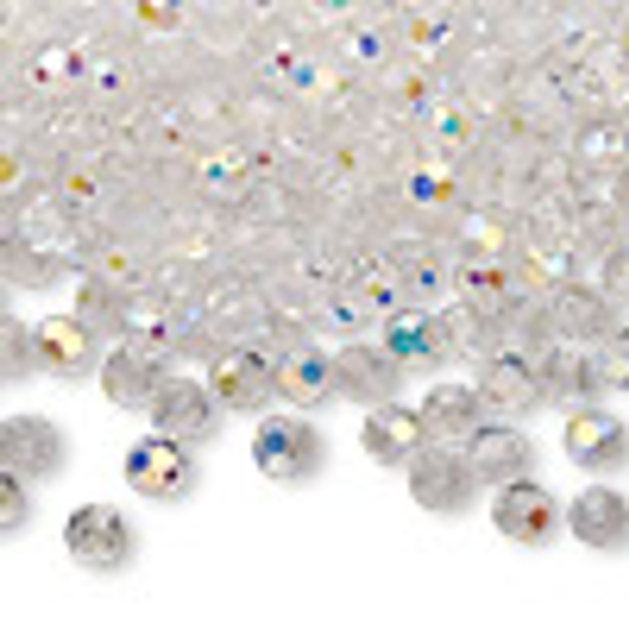 4mm Crystal AB Preciosa Round Crystals (12pk)