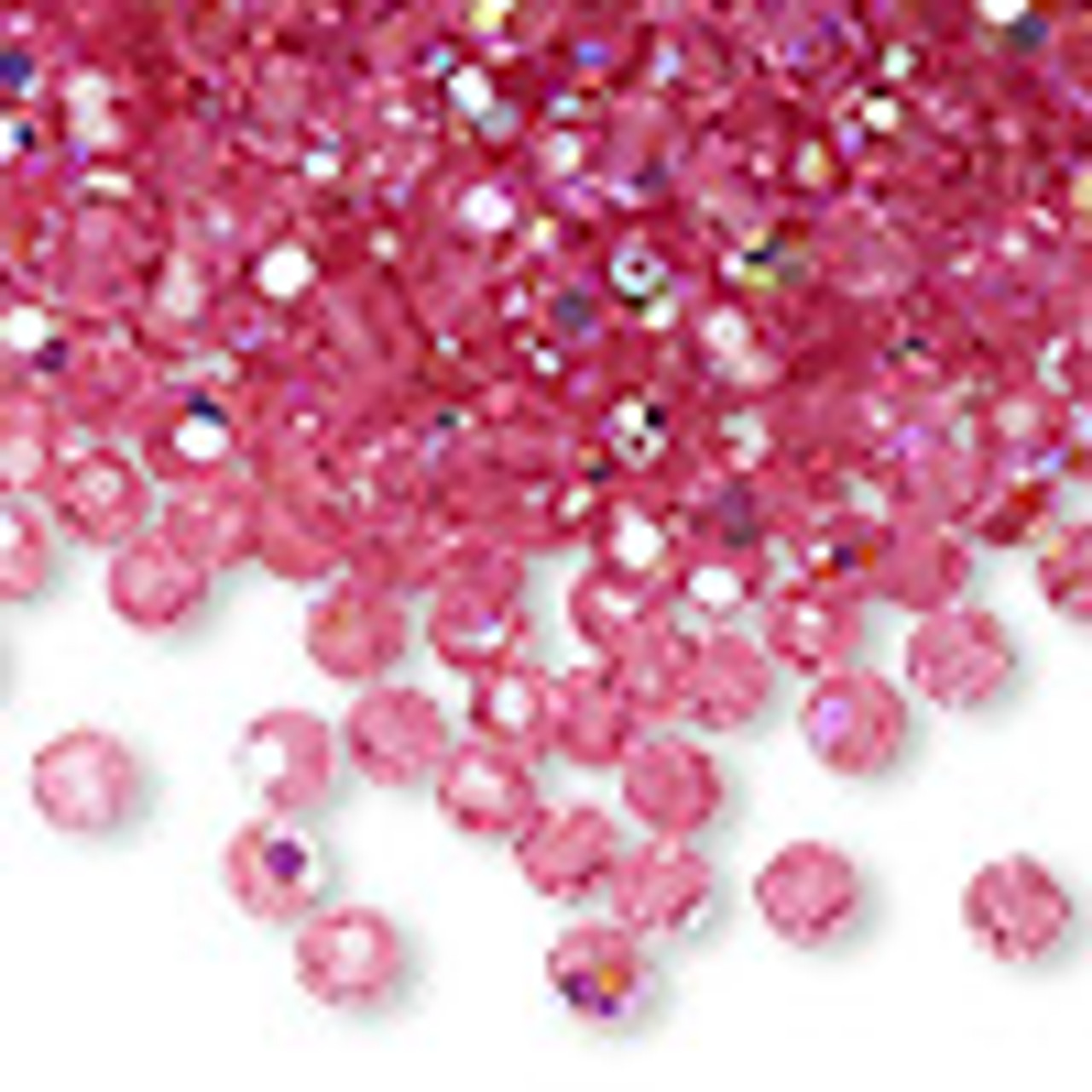 4mm Rose AB Preciosa Round Crystals (12pk)