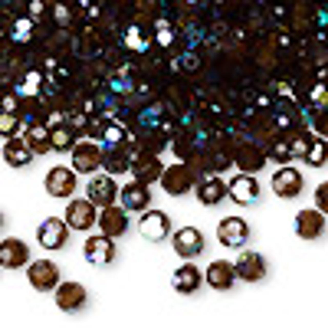 4mm Smoke Topaz AB Preciosa Round Crystals (12pk)