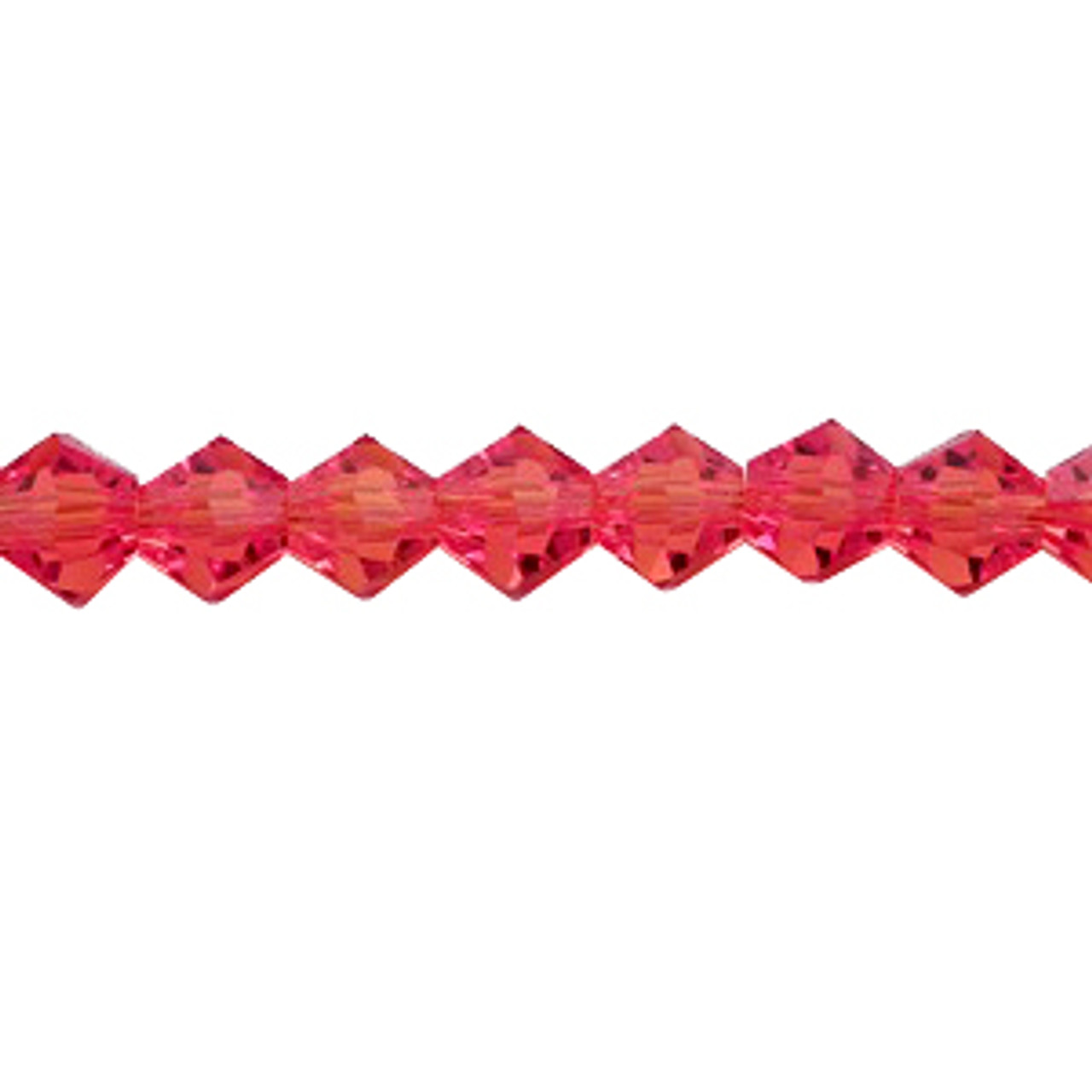 4mm Red Thunder Polish Crystal Bicones  - 144pk - 4BI12