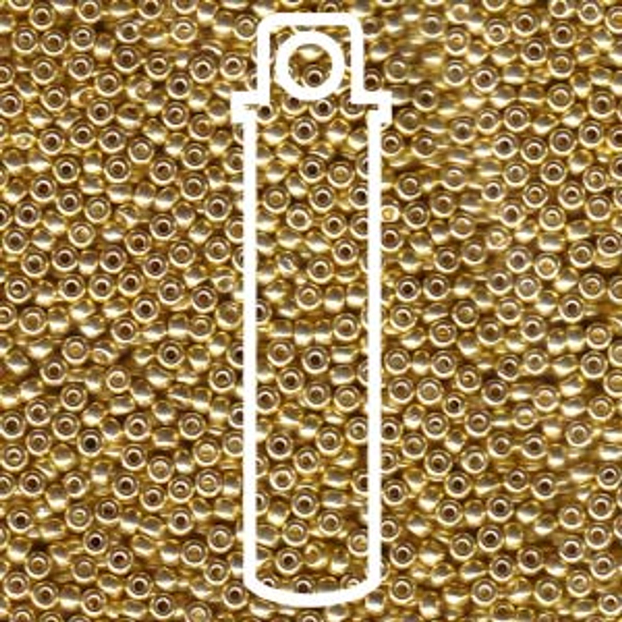 11/0 Galvanized Gold Miyuki Seed Beads (22 Grams) 11-91052