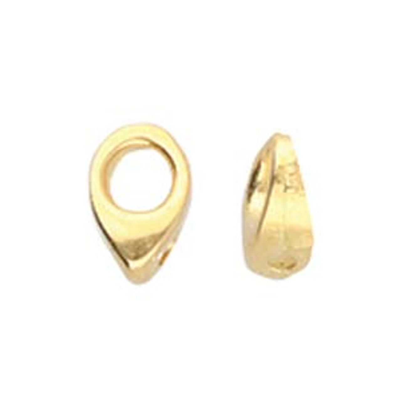 Kolympos Superduo Bead Endings (2pk) Gold Plated