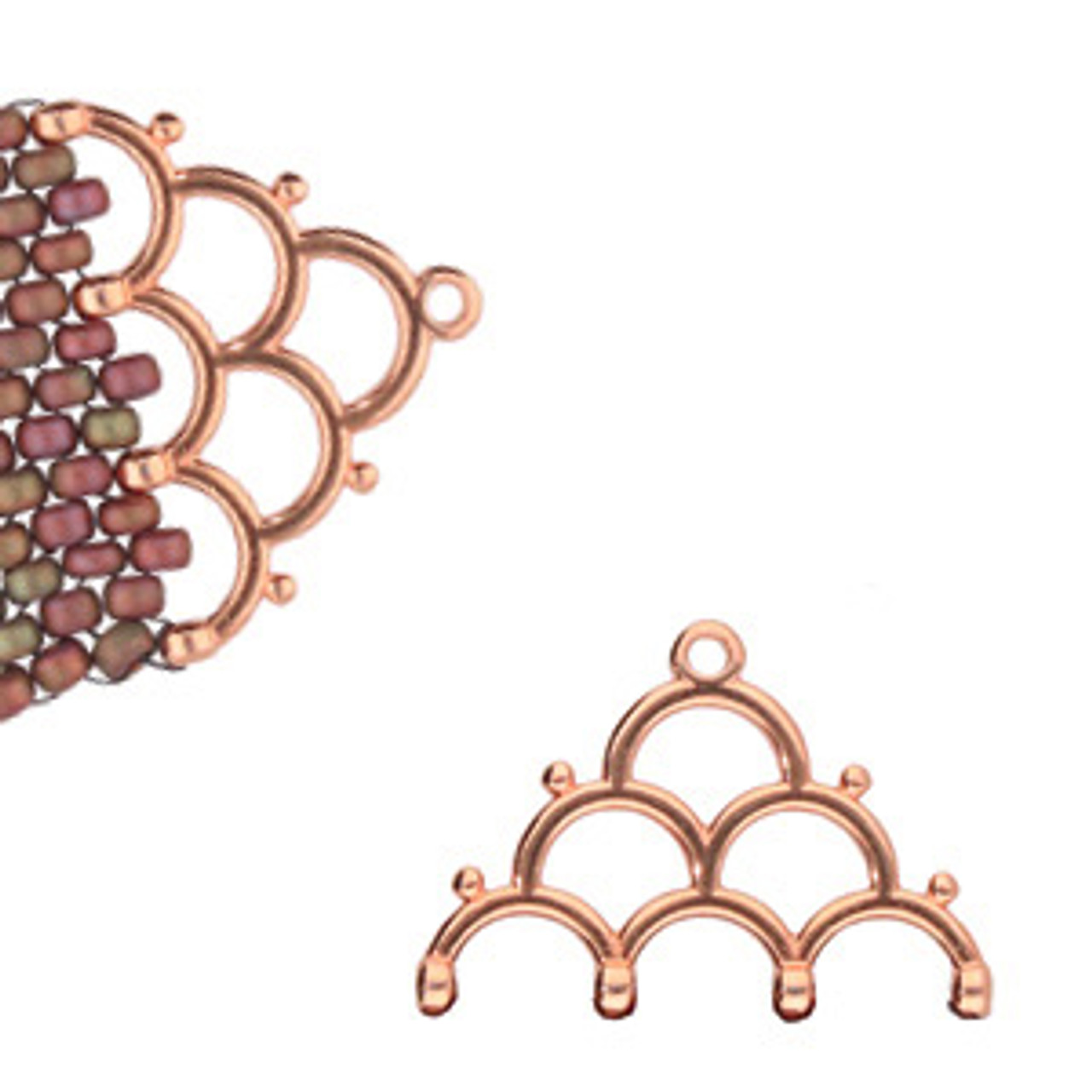 Lakos IV 8/0 Bead Ending Rose Gold Plated (2pk)